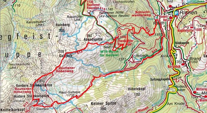 Steinkarspitzen-Galtjoch-Überschreitung (2215/2181/2109 m), Berwang