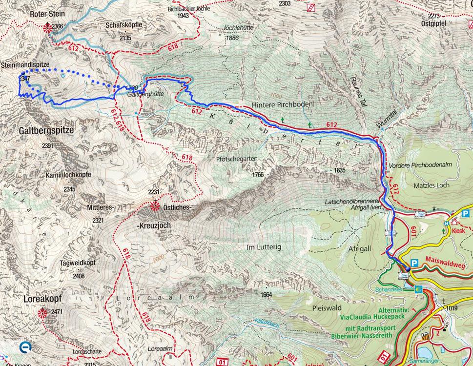 Steinmandlspitze (2347m) vom Fernpass