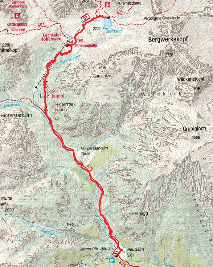 Steinsee (2222m) von der Alfuzalm