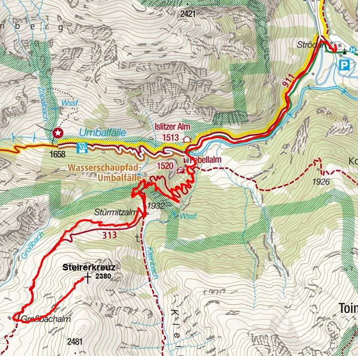 Steirerkreuz (2380 m) von Ströden