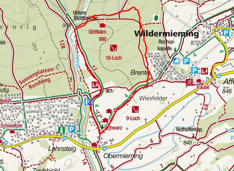 Rundwanderung Stöttlalm am Mieminger Plateau