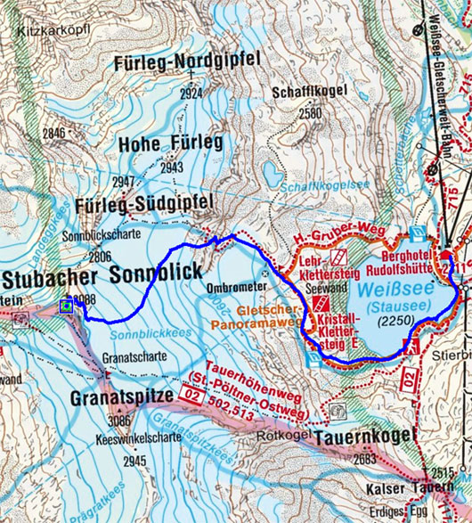 Stubacher Sonnblick (3088 m) von der Rudolfshütte