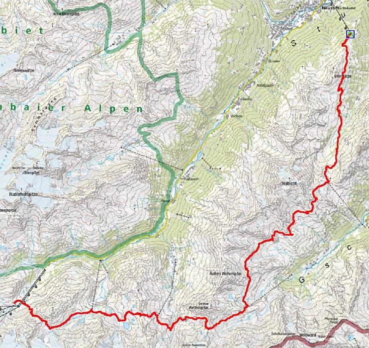 Stubaier Höhenweg Süd (6 Etappen)