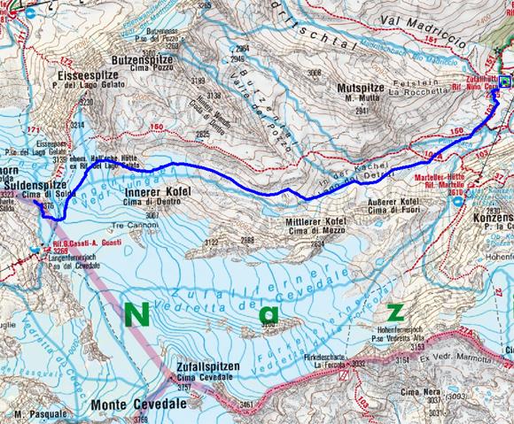 Suldenspitze (3376 m) von der Zufallhütte