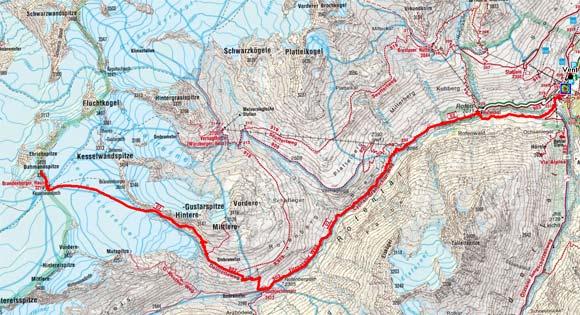 Venter Gletscher - Rundtour Tag 1