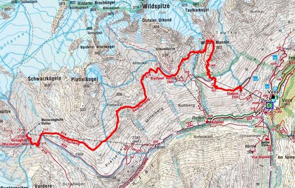 Venter Gletscher - Rundtour Tag 3