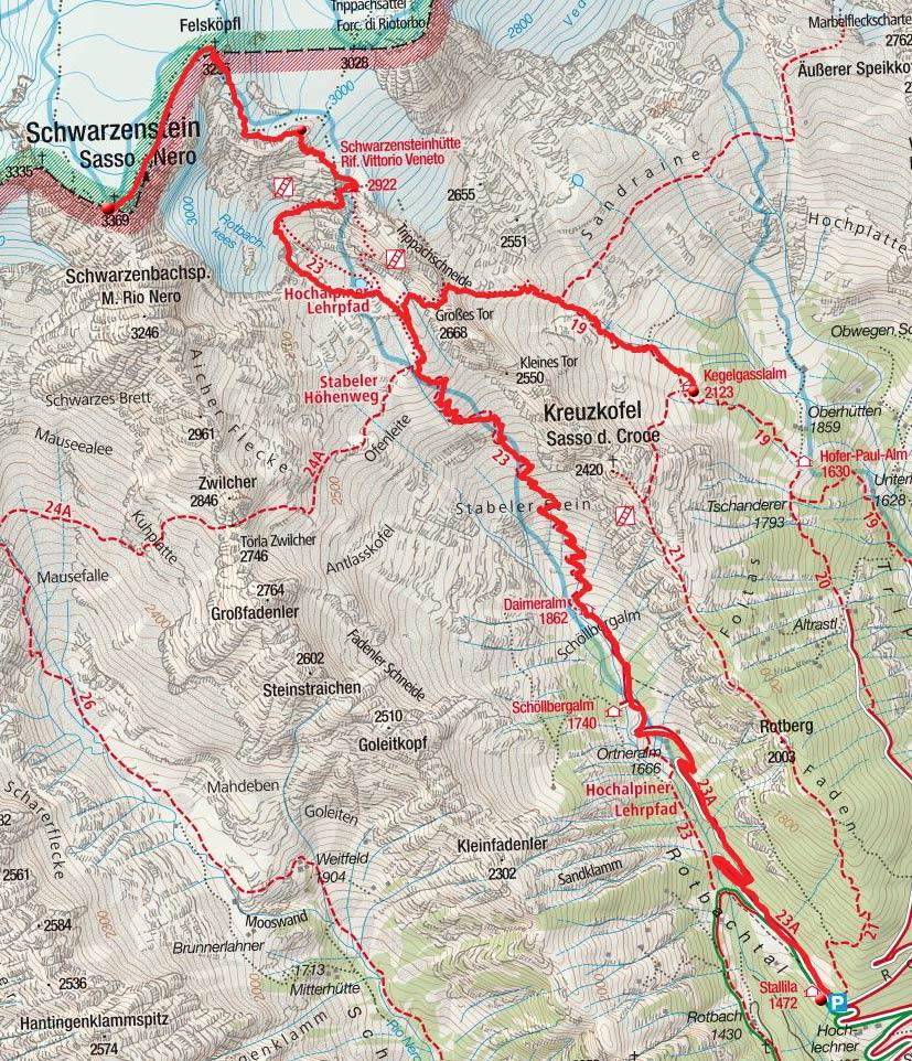 Tag 2: Kegelgasslalm – Schwarzensteinhütte – Schwarzenstein - Stallila