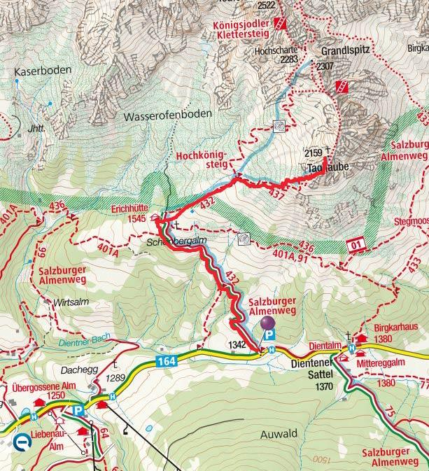 Taghaube (2159 m) vom Dientner Sattel