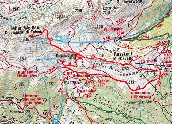Telfer Weissen (2588 m) von der Rosskopfbahn