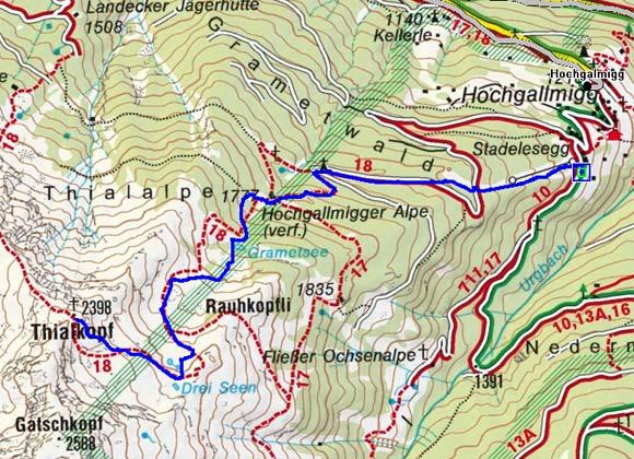 Thialkopf (2398 m) von Hochgallmigg