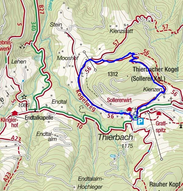 Von Thierbach um den Thierbacher Kogel