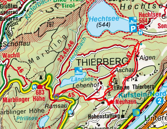 Thierbergkapelle - Gasthof Neuhaus Rundwanderung
