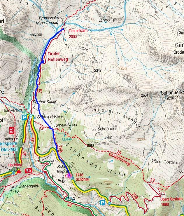 Timmelsalm (2000 m) vom Gasthof Schönau