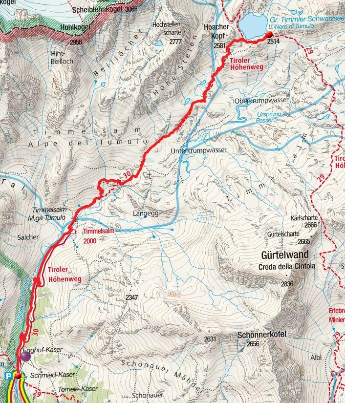 Großer Timmler Schwarzsee (2514m) von der Timmelsbrücke