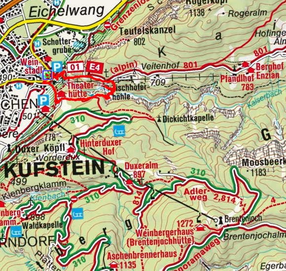 Tischofer Höhle - Theaterhütte Rundwanderung