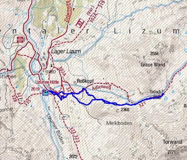 Torjoch (2386 m) von der Lizumerhütte