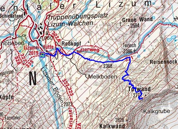 Torwand (2771 m) von der Lizumer Hütte