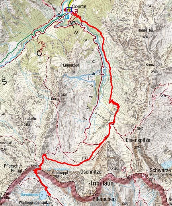 Italienische Tribulaunhütte (2369 m) aus dem Gschnitztal