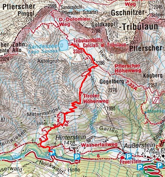 Tribulaunhütte (2368 m) von Innerpflersch