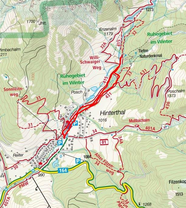 Triefen-Rundwanderung bei Hinterthal