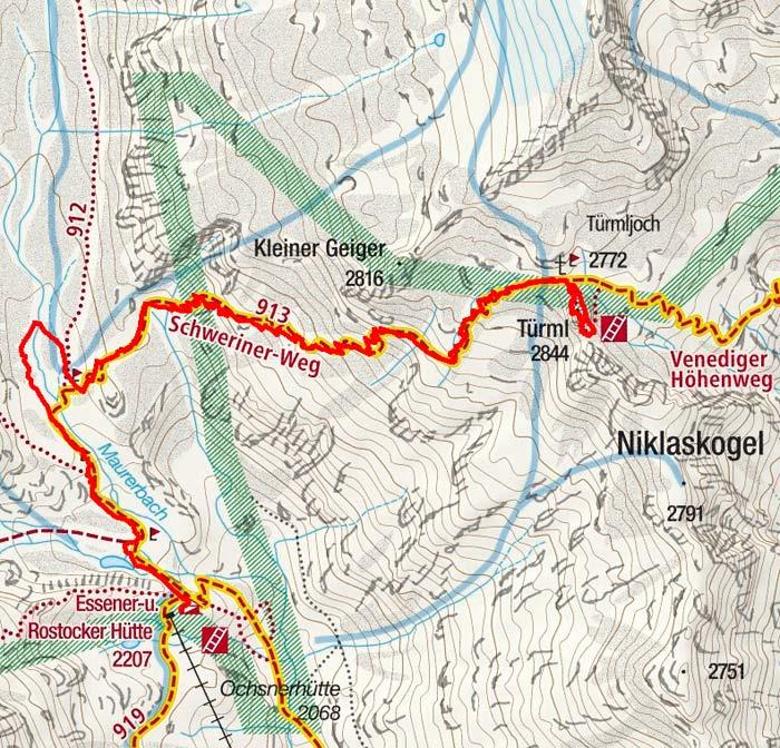 Türmljoch & Türml-Klettersteig (2844 m) von der Essener Rostocker Hütte