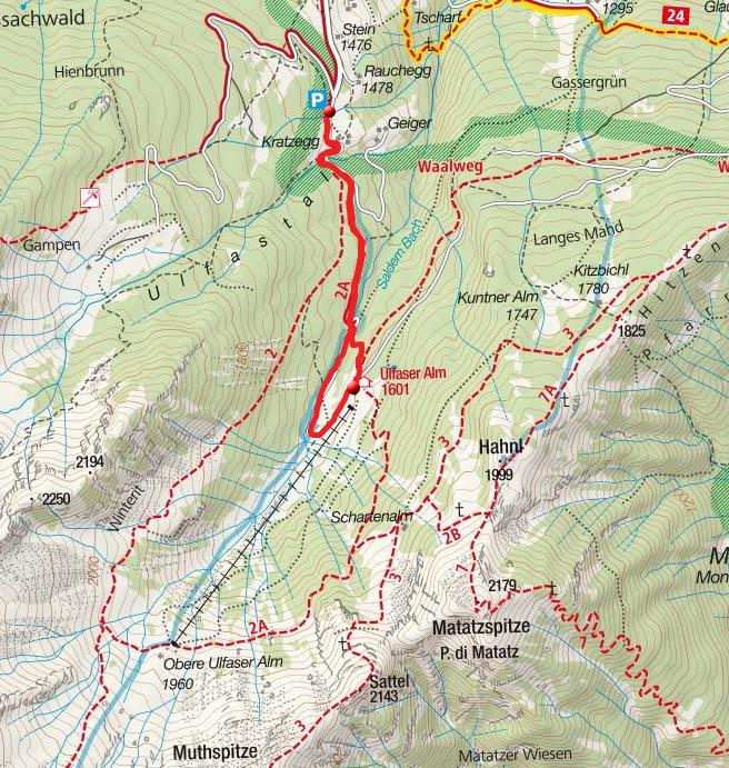 Ulfaser Alm (1600m) von Ulfas