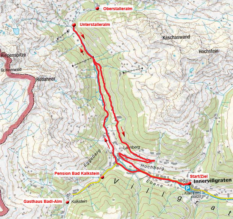 Unterstalleralm – Hochberg Runde von Innervillgraten