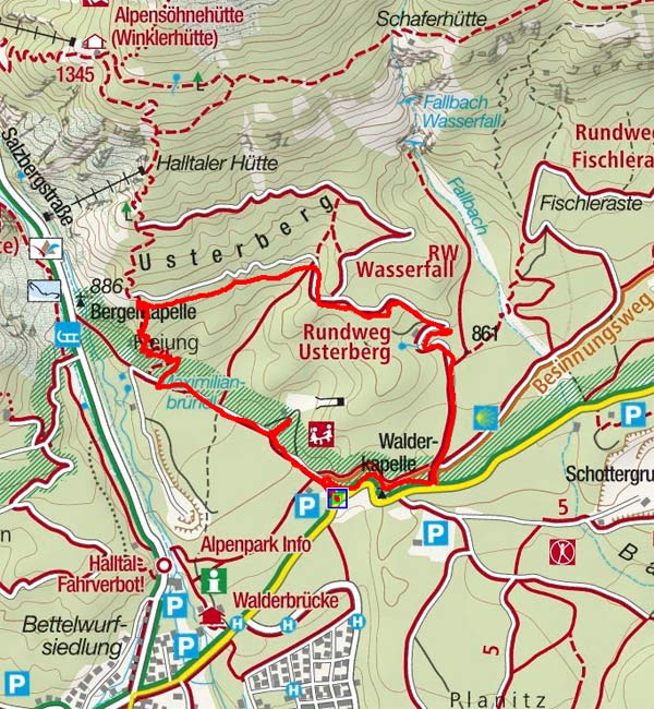 Usterberg-Rundwanderung in Gnadenwald