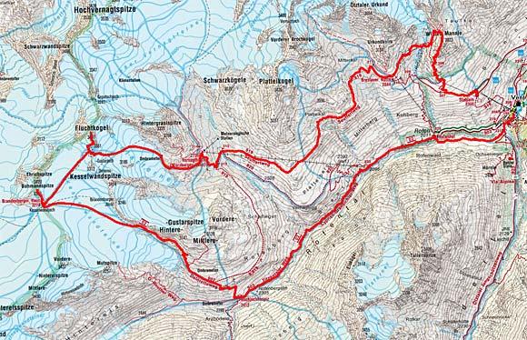 Venter Gletscher - Rundtour (2 oder 3 Tagesetappen)