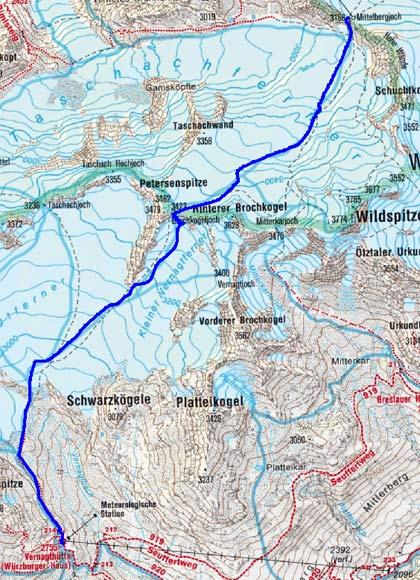 Vernagthütte (2755 m) von Pitztal-Mittelberg