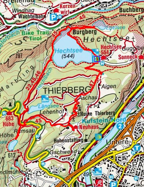 Vier Seen Wanderung bei Kufstein