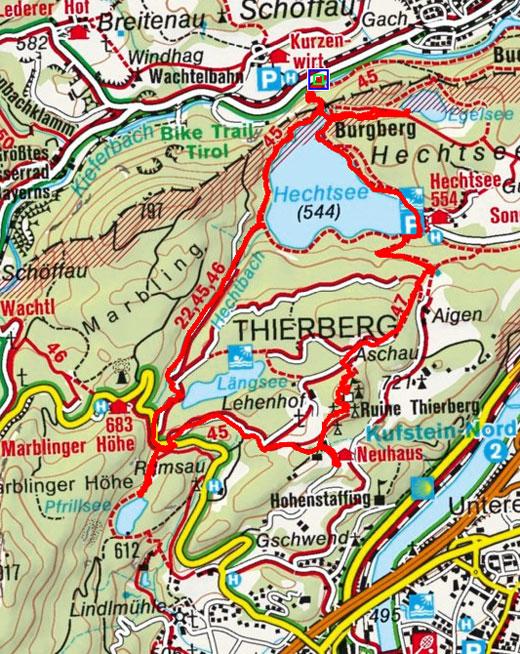 Vier Seen Wanderung von Kiefersfelden