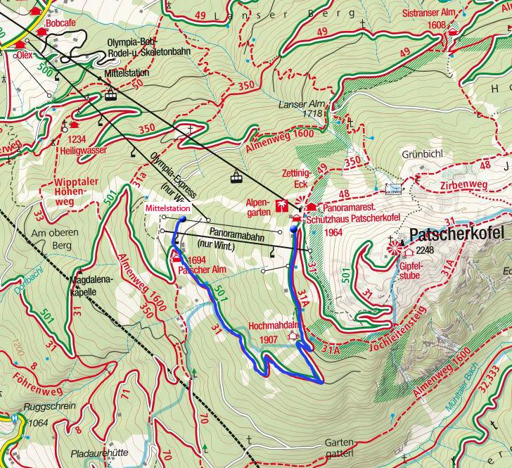 Skitour Vitalweg am Patscherkofel