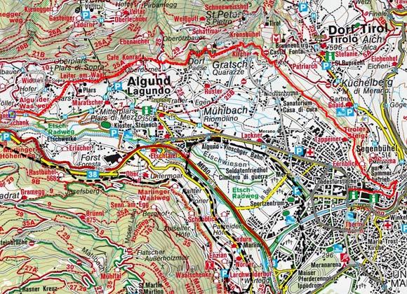Algunder Waalweg mit Tappeinerweg von Töll