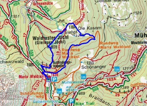 Waldraster Jöchl - Rundtour