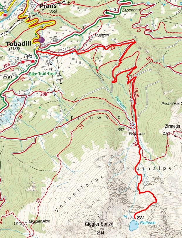 Flathsee (2332 m) von Tobadill
