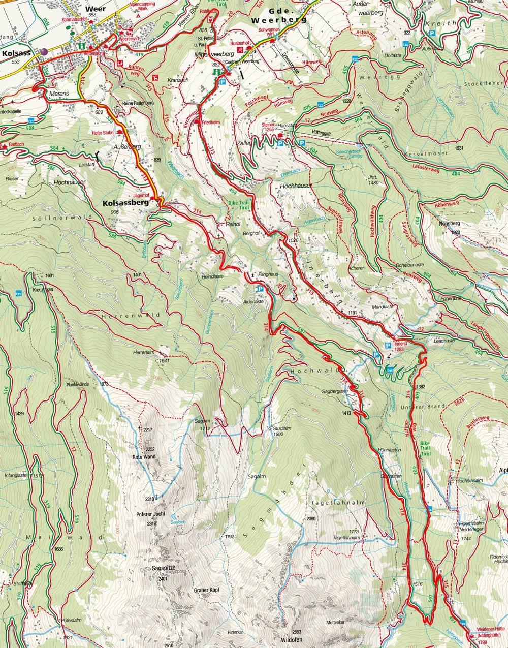 Weidener Hütte–Weertal Runde von Kolsass