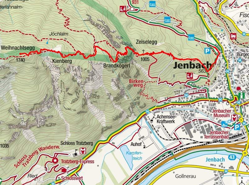 Weihnachtsegg (1740 m) von Jenbach