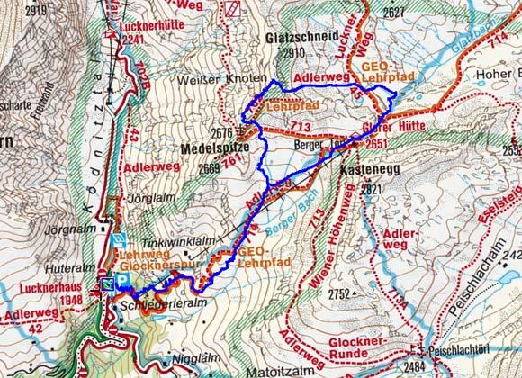 Weisser Knoten (2864 m) vom Lucknerhaus