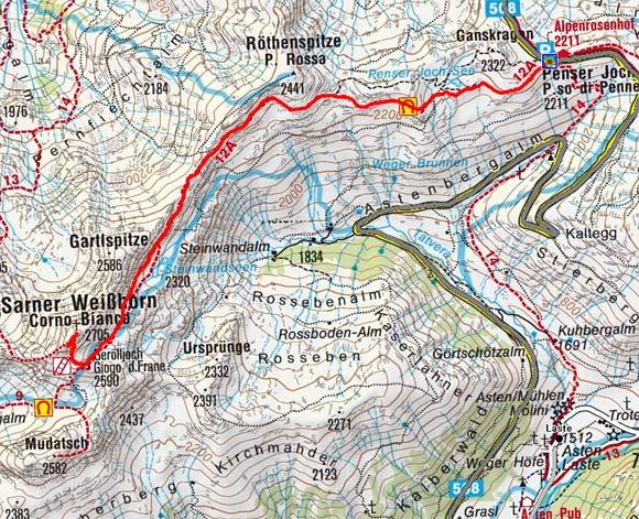 Sarner Weißhorn (2705 m) vom Penserjoch