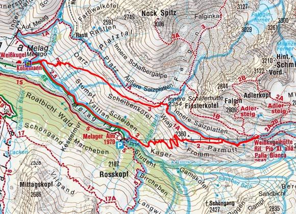 Weißkugelhütte (2544 m) von Melag