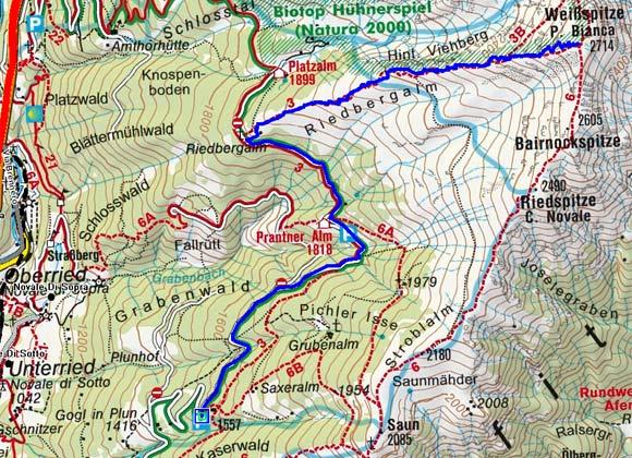 Weissspitze (2714 m) über die Prantneralm