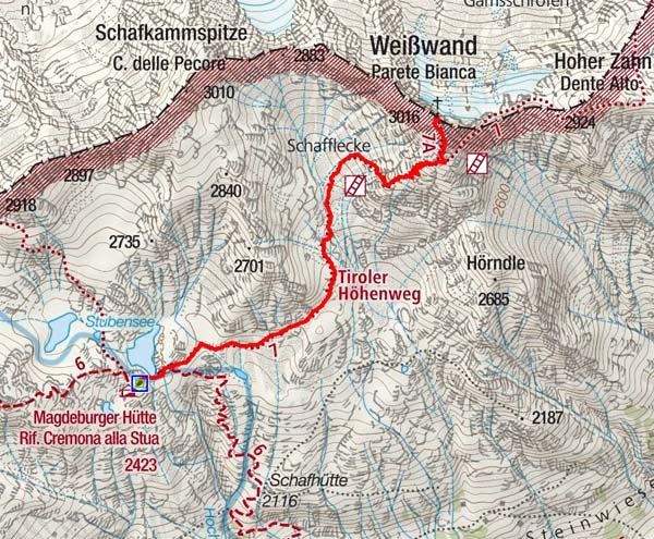 Weißwand (3016 m) von der Magdeburger Hütte