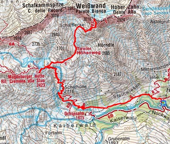 Weißwand (3016 m) über Magdeburgerhütte
