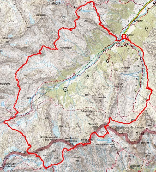 Weißwandkamm Rundtour von Gschnitz (5 - 6 Tagesetappen)