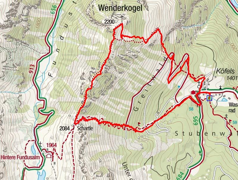 Wenderkogel (2200 m) von Köfels