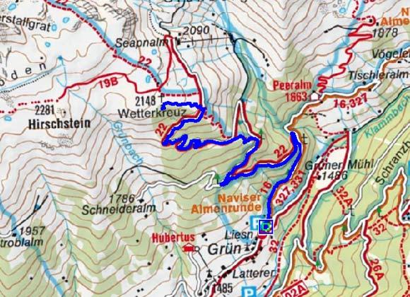 Naviser Wetterkreuz (2148 m) von Navis