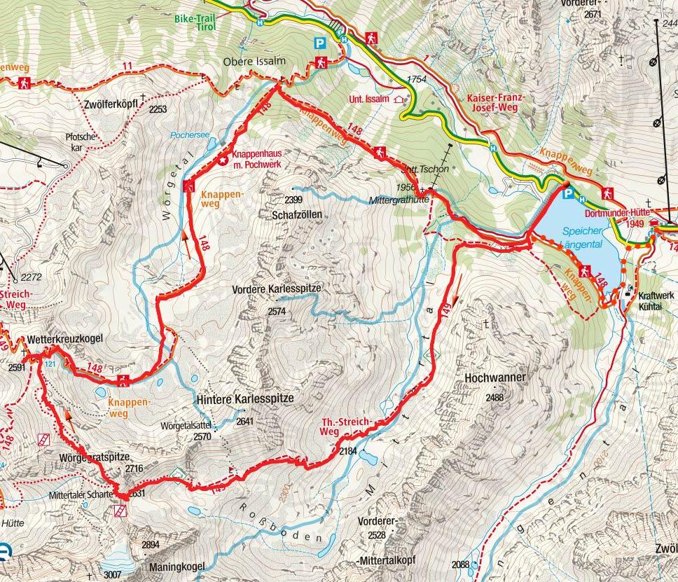 Wetterkreuzkogel-Rundtour vom Speicher Längental
