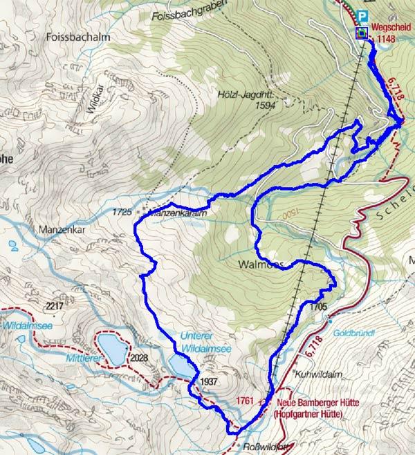 Wildalmsee (1937m) Rundwanderung vom Gasthof Wegscheid in der Kelchsau