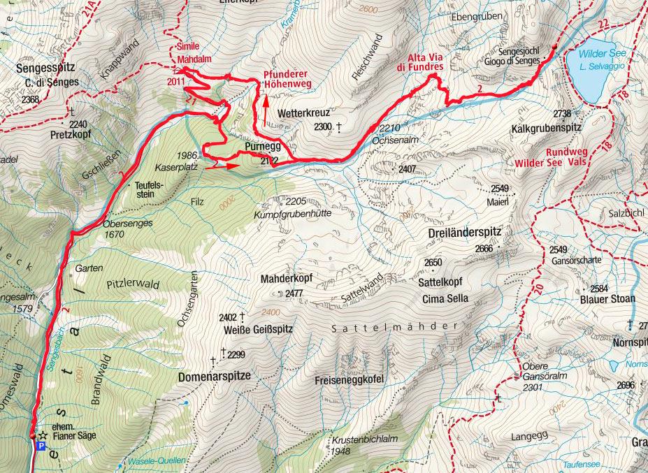 Wilder See & Simile Mahd-Alm (2532/2011m) aus dem Sengestal